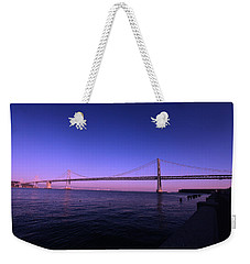 Weekender Tote Bag featuring the photograph An Evening In San Francisco  by Linda Edgecomb