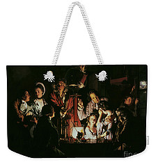 An Experiment On A Bird In The Air Pump Weekender Tote Bag by Joseph Wright of Derby