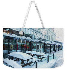An Icy Quincy Market Weekender Tote Bag