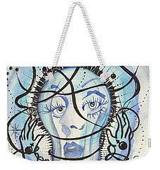 Weekender Tote Bag featuring the digital art An Idea by Darren Cannell