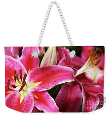 An Inviting Lily Weekender Tote Bag by Cameron Wood