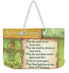 Weekender Tote Bag featuring the painting An Irish Blessing by Debbie DeWitt