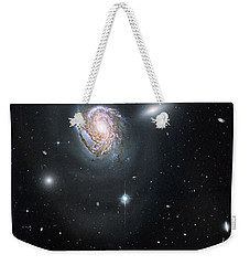 Weekender Tote Bag featuring the photograph An Island Universe In The Coma Cluster by Nasa