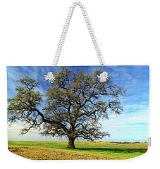 Weekender Tote Bag featuring the photograph An Oak In Spring by James Eddy