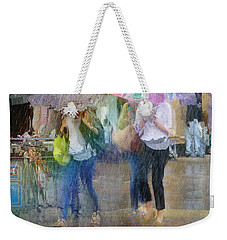 Weekender Tote Bag featuring the photograph An Odd Sharp Shower by LemonArt Photography