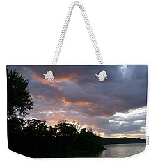 An Ohio River Valley Sunrise Weekender Tote Bag