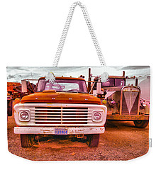 Weekender Tote Bag featuring the photograph An Old Ford And Kenworth by Jeff Swan