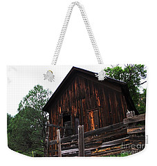 An Old Rustic Barn Weekender Tote Bag by Natalie Ortiz