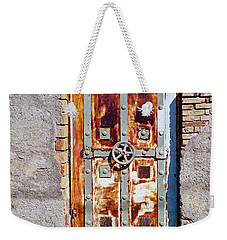 An Old Rusty Door In Katakolon Greece Weekender Tote Bag