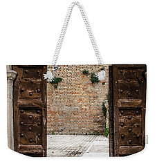 An Old Wooden Door 2 Weekender Tote Bag by Andrea Mazzocchetti