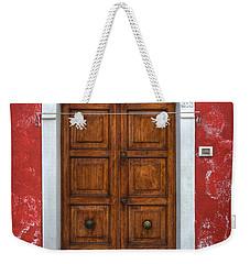 an old wooden door in Italy Weekender Tote Bag