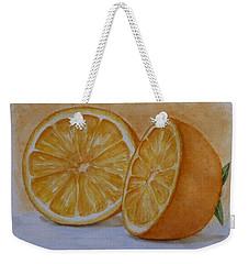 An Orange Weekender Tote Bag