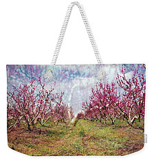 An Orchard In Blossom In The Golan Heights Weekender Tote Bag