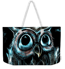 An Owl Friend Weekender Tote Bag by Alessandro Della Pietra