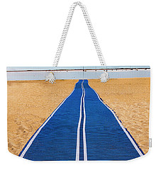 Weekender Tote Bag featuring the photograph An Uncommon Path by Paul Wear