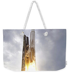 An United Launch Alliance Atlas V Weekender Tote Bag by Stocktrek Images