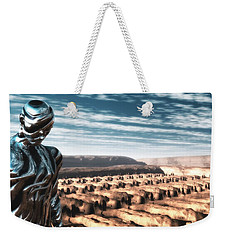 Weekender Tote Bag featuring the digital art An Untitled Future by John Alexander