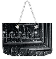 Weekender Tote Bag featuring the photograph Analog Motherboard 1 by James Aiken