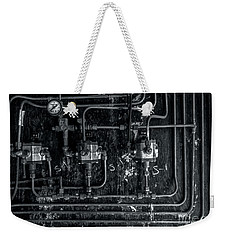 Weekender Tote Bag featuring the photograph Analog Motherboard 2 by James Aiken