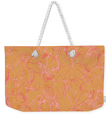 Analogous Dribble Painting Weekender Tote Bag