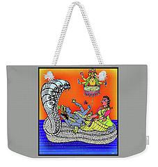 Anantha Sayanam-patta Chitra Style Weekender Tote Bag by Latha Gokuldas Panicker