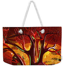 Weekender Tote Bag featuring the digital art Anatomy Abstract #1 Kidney by Russell Kightley