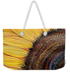 Weekender Tote Bag featuring the painting Anatomy Of A Sunflower by Ecinja Art Works