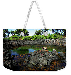 Weekender Tote Bag featuring the photograph Anchialine Pond by Anthony Jones