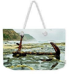 Weekender Tote Bag featuring the photograph Anchor At Rest by Angela DeFrias