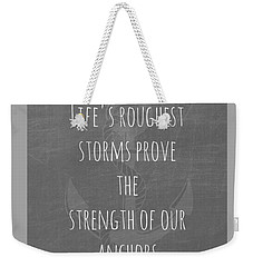 Anchors Light Gray Weekender Tote Bag