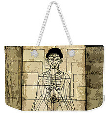Ancient Art Mural Depicting The Sen Lines Weekender Tote Bag