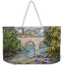 Ancient Bridge Weekender Tote Bag by Lou Ann Bagnall