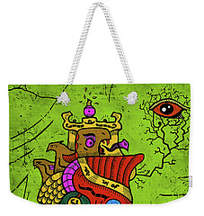 Weekender Tote Bag featuring the digital art Ancient Egypt Pharaoh by Sotuland Art