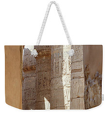 Weekender Tote Bag featuring the photograph Ancient Egypt by Silvia Bruno