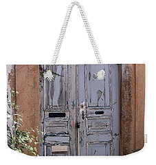 Ancient Garden Doors In Greece Weekender Tote Bag