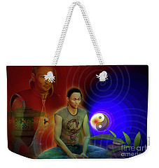 Weekender Tote Bag featuring the digital art Ancient Soul by Shadowlea Is