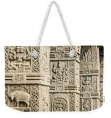 Ancient Temple Carvings Weekender Tote Bag