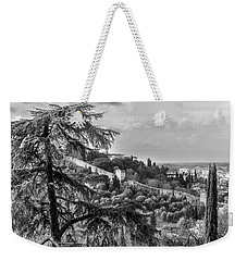 Ancient Walls Of Florence-bandw Weekender Tote Bag