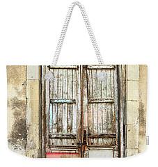 Ancient Wooden Door In Old Town. Limassol. Cyprus Weekender Tote Bag