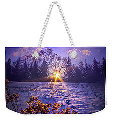 Weekender Tote Bag featuring the photograph And Back Again by Phil Koch