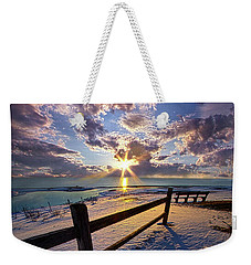 Weekender Tote Bag featuring the photograph And I Will Give You Rest. by Phil Koch