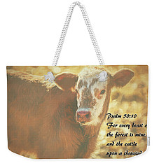 And The Cattle Weekender Tote Bag by Janice Rae Pariza