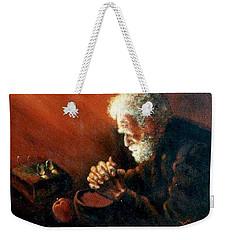 And The Old Man Prayed Weekender Tote Bag