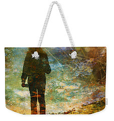 And Then He Turned Her World Upside Down Weekender Tote Bag by Tara Turner