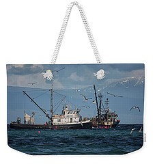 Weekender Tote Bag featuring the photograph Kornat And Western Investor by Randy Hall