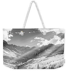 Weekender Tote Bag featuring the photograph And You Feel The Scene by Jon Glaser