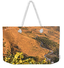 Weekender Tote Bag featuring the photograph Andalucian Golden Valley by Ian Middleton