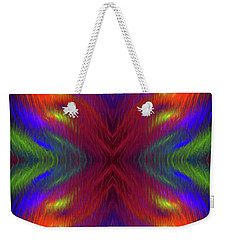 Weekender Tote Bag featuring the digital art Andee Design Abstract 1 2015 by Andee Design