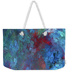 Weekender Tote Bag featuring the digital art Andee Design Abstract 1 2017 by Andee Design