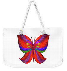 Weekender Tote Bag featuring the digital art Andee Design Abstract 2 2015 by Andee Design